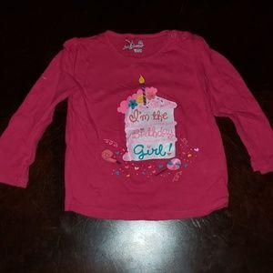 24mo birthday girl long sleeve shirt